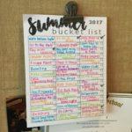 Making a Summer Bucket List