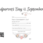 Grandparents Day!  Letter to help you celebrate!