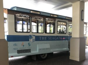 The Seagate Hotel trolley